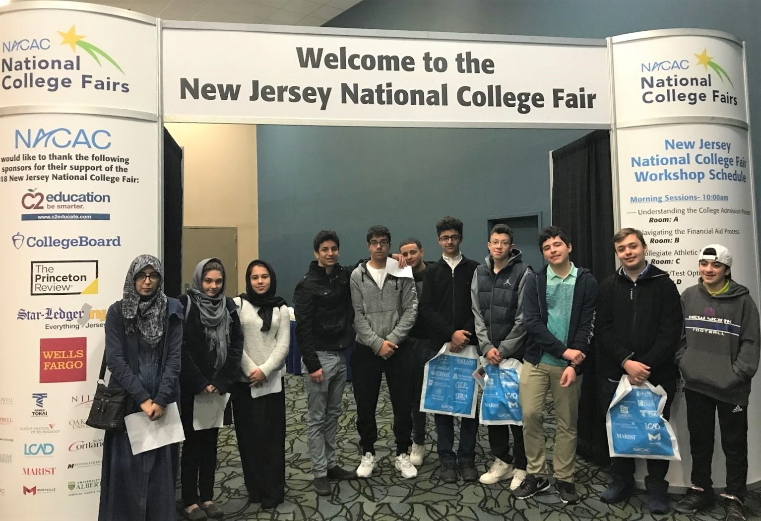Maarif School students attend National College Fair in New Jersey